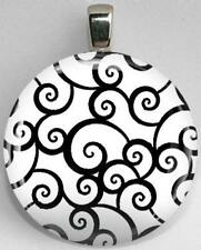 Handmade Interchangeable Magnetic Black and White Patterns #7 Pendant Necklace