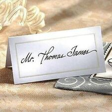 ~*Pearlized WHITE BLANK Wedding Name Place Card -Table Number Choose Quantity*~