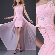 PINK LONG High Low Bridesmaid Formal Gowns Ball Homecoming Party Prom Dress 2015