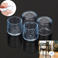New 4x Rubber Protectors Round Table Chair Leg Cover Furniture Floor Feet Cap