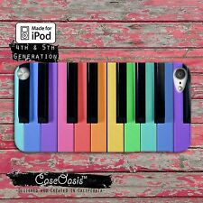 Piano Key Rainbow Colorful Fitted Case Cover For iPod Touch 4th 5th Gen
