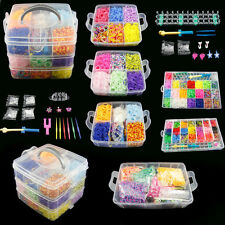 New DIY Colorful Rainbow Rubber Loom Bands Bracelet Making Kit Set Fun