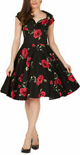'Ruby' Vintage Infinity 1950's Floral Full Circle Rockabilly Swing Evening Dress