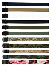 FOX Cotton Military Web Belt with Black Buckle