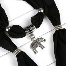 Alloy Elephant Pendant Scarf Charm Ring Jewelry Necklace Scarves EOD