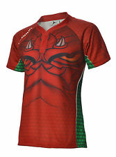 Welsh Dark Dragon Supporters Rugby Shirt S-6XL (Away) Olorun Wales Rugby Shirt