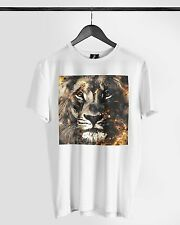 Distinkt Youth Lion Fury Crew T shirt Wildlife Muscle Vest Ibiza Animal Summer