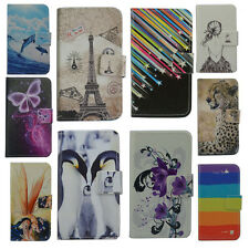 Wallet Card DELUXE leather cartoon cute case Cover For SAMSUNG phone +free gifts