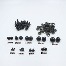 Black Plastic Safety Eyes For Teddy Bear/Dolls/Toy Animal/Felting,6-20mm