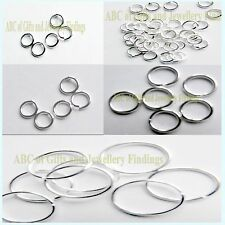 Silver Plated Open Jump Rings x (100 pcs) Sizes from 3.5 mm to 12 mm