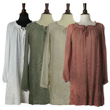 Classy Italian Design Embroidered Dress Soft Washed Rayon Fabric