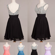 Weekend SALE Summer Party Evening Formal Bridesmaid Prom Dresses Short Ball Gown