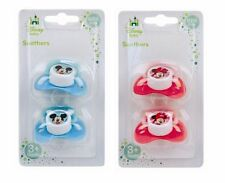 Disney Baby Mickey or Minnie Soothers Dummies Pack of 2 - Boys Or Girls Ideal