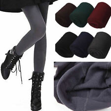 Women Winter Warm Slim Leggings Stretch Skinny Pants Thick  Footless Stockings