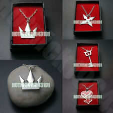 Kingdom Hearts Sora Crown Roxas Cross Necklace Pendant in Box with Gift Bag