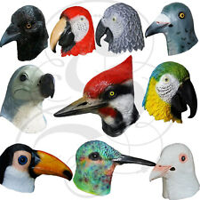 Latex Full Head Animal Bird Dove Dodo Parrot Pigeon Crow Masquerade Props Mask