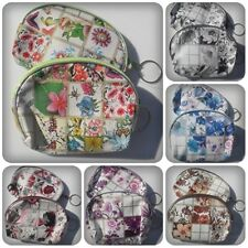 1 x Zip Up Coin Purse/Cosmetics Bag - Rounded - 11.5cm [Various Designs]
