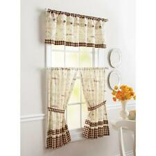 COFFEE BEAN FRENCH BISTRO CAFE Kitchen VALANCE or TIERS Window Curtains