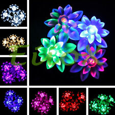4M 40LED Double-Deck Lotus Battery Powered Fairy String Lights for Xmas Wedding