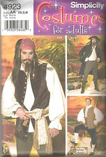 SIMPLICITY 4923 18th Century Waistcoat & Shirt Pirate Costume Sewing Pattern