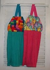 Cats Tabby Neon Bright Colored Hanging Kitchen Oven Dishtowel Handmade by HCF&D