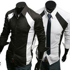 Cool Mens Dress Shirts Smart Fashion Casual Formal Shirts Fitted Button Designer