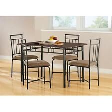 Furniture Wood Metal Dining Set, Multiple Colors, chairs table kitchen breakfast