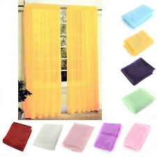 New Sheer Curtain Drape Panel Window Curtain Scarf Scarves Lounge Room Decorate