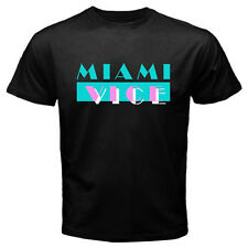New MIAMI VICE 80'S Retro Classic TV Series Men's Black T-Shirt Size S to 3XL