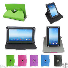 """Rotating Leather Case Cover For 7"""" Azpen A740 A727 A728 A729 A721 Tablet  WN1HW"""