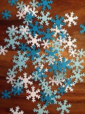 FROZEN white blue card large small party snowflakes confetti table decoration