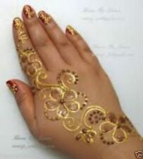 6 Colours, Glitter Gel Cone, Face Paint ,  Henna Tattoo Body Art, Henna Gilding