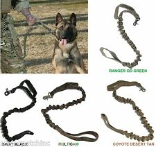 TACTICAL POLICE K9 DOG TRAINING LEASH ELASTIC BUNGEE USA CANINE US MILITARY