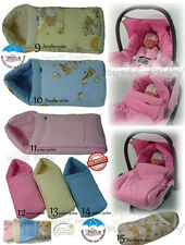 Baby Soft Sleeping Bag Footmuff Cosytoes For Car Seat Pram Stroller 3 X Colours