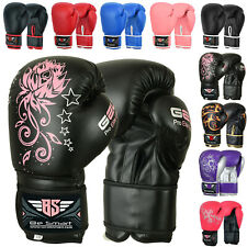 Ladies Pink Gel Boxing Gloves Bag Womens Gym Kick Pads MMA Mitts Muay Thai