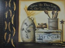 "BR155 Daily Bread Pam Britton 18""x24"" framed or unframed print art crocks"