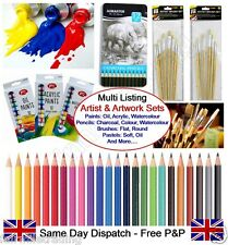 Artist Charcoal Watercolour Pencils Oil Pastels Colour Paints Art Drawing Set