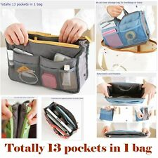 1 Multifunctional Zippered & Cushioned Inner storage Organizer Dual Bag-in-Bag