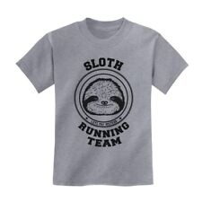 Sloth Running Team Kids T-Shirt Lazy Cute Cool Birthday Gift Idea Youth Crewneck