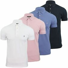 Mens Polo T-Shirt by FCUK/French Connection Pique 'F' Badge