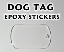 Dog Tag Epoxy Stickers - Transparent or Glitter - Various Sizes - Free Shipping