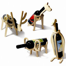 Wine Rack Bottle Holder Party Decorations Housewarming Fathers Gifts for Men Dad