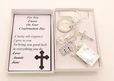 Confirmation Day..Lucky Sixpence Gift..Cross..Letter.Angel..Book.Lovely Keepake