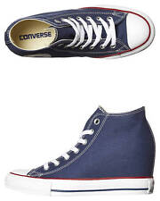 New Converse Women's Chuck Taylor All Star Lux Mid Wedge Women's Shoes Blue