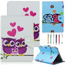 "US Universal Cute Owl Leather Case Cover For 7"" 10"" 10.1"" inch Android Tablet PC"
