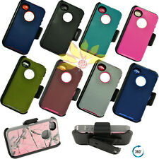 Iphone 4/4S Defender Cover Case with Belt Clip New with screen procter
