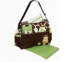 Maternity Bag Shoulder Bag For Baby Diaper Nappy Pad Animal Print Medium Size