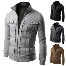 Fashion Design Mens Casual Jacket Slim Fit Jacket Coat Sexy Outwear Stand Collar