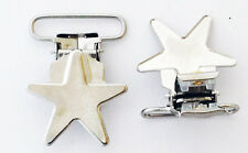 Star Metal Clips Plastic Suspender Pacifier Dummy Soother KAMsnaps Crafts CPSC