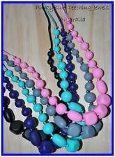 Silicone bead pendant TEETHING NECKLACE NURSING beads teething Baby bead Teether